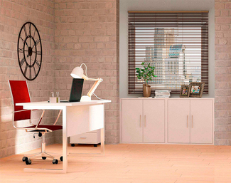 Imagen de Ambiente de Oficina Melamina Blanco Soft II Ref.001