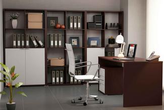Imagen de Ambiente de Oficina Wengue Blanco Completo 2