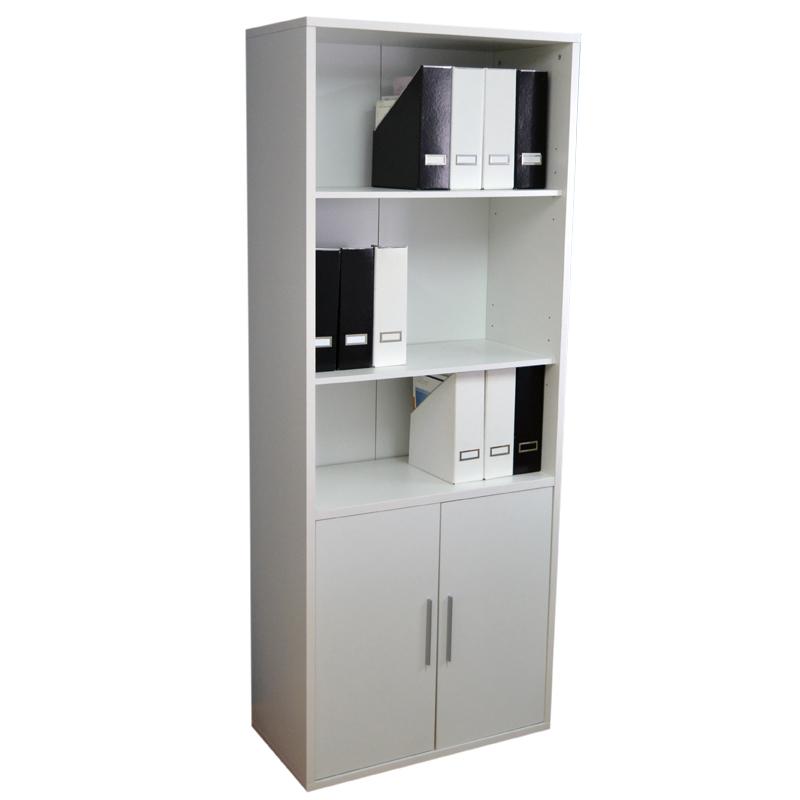Estanteria 2 puertas blanco soft 40x80x200cm - Armario estanteria ...