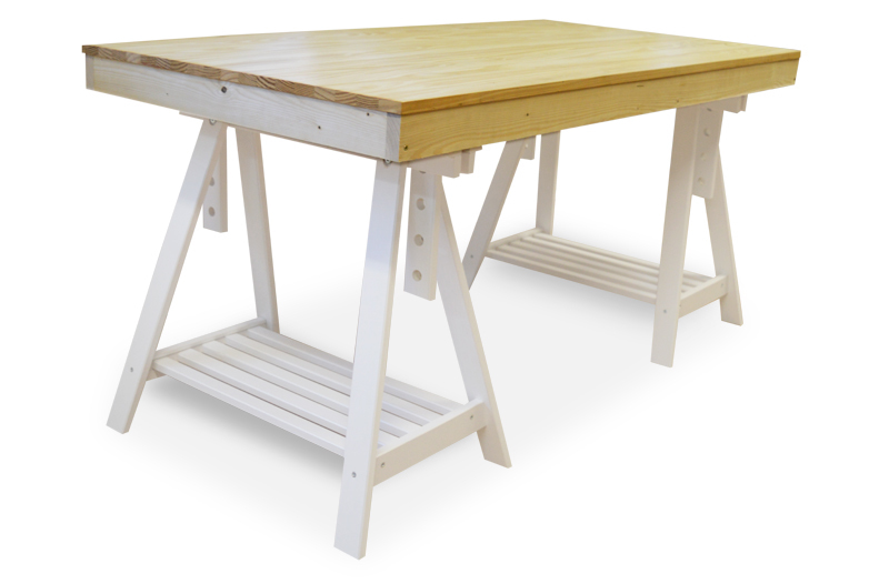 Mesa cerco con caballete regulable 80 x 160 x 77 cm - Caballetes para mesas ...